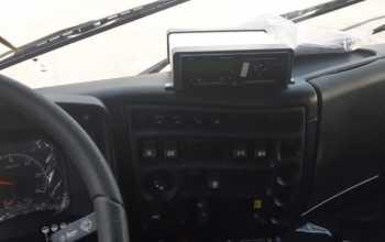 Установка тахографа на авто с низкой крышей. Используется дополнительный бокс.